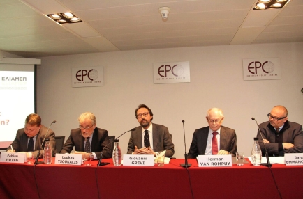 Public dialogue event in Brussels on '2018: A turning point for European integration?', organized by the European Policy Centre (EPC), January 9th, 2018