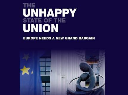 New book entitled <a href='http://www.policy-network.net/publications/4602/The-Unhappy-State-of-the-Union'><em>'The Unhappy State of the Union: Europe Needs a New Grand Bargain'</em></a>, published by Policy Network in partnership with 5 other major European think tanks. You may read the text in <a href=http://www.notre-europe.eu/011-18503-Le-triste-etat-de-l-Union.html'><em>French</em></a>, <a href=http://www.bertelsmann-stiftung.de/cps/rde/xchg/bst/hs.xsl/nachrichten_121091.htm><em>German</em></a>, <a href=http://www.patakis.gr/viewshopproduct.aspx?id=643072'><em>Greek (published by Patakis)</em></a>, <a href=http://www.realinstitutoelcano.org/wps/wcm/connect/89a5e900439334c5a8a4adfaff0a2f3f/Tsoukalis_triste_estado_de_la_Union_Europa_necesita_nuevo_gran_pacto.pdf?MOD=AJPERES&CACHEID=89a5e900439334c5a8a4adfaff0a2f3f><em>Spanish</em></a> and <a href=http://www.demosservices.home.pl/www/files/Raport_Niedoskona%C5%82a%20Unia.pdf><em>Polish</em></a>.</a>